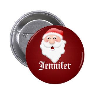 Etiquetas conocidas de Papá Noel de la fiesta de N Pin Redondo De 2 Pulgadas