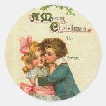 Etiquetas conocidas del navidad del vintage