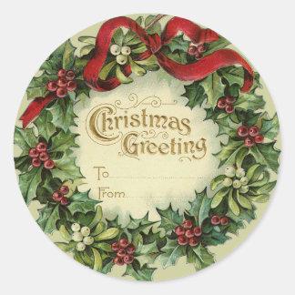 Etiquetas conocidas del navidad grande del pegatina redonda