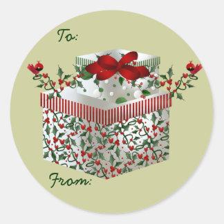 ¡Etiquetas conocidas del navidad! Pegatina Redonda