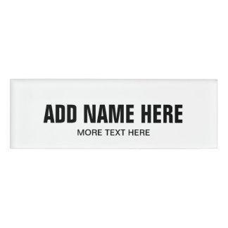 Etiquetas conocidas magnéticas con el nombre de chapa identificatoria