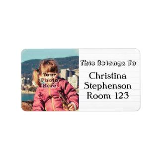Etiquetas conocidas personalizadas foto de encargo etiquetas de dirección