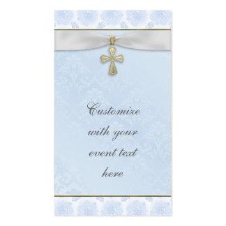 Etiquetas cruzadas de Bomboniere de los azules Tarjetas De Visita