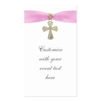 Etiquetas cruzadas rosadas de Bomboniere Plantillas De Tarjetas De Visita