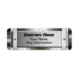 Etiquetas de acero del metal del modelo del etiquetas de remite