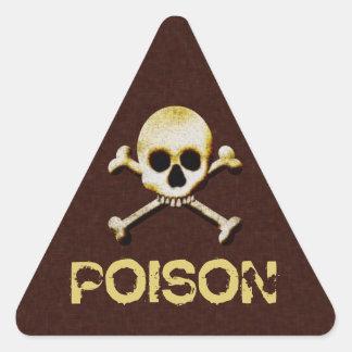 Etiquetas de advertencia de Halloween del cráneo y Pegatina Triangular