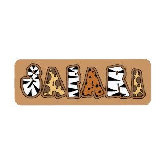 Etiquetas de Avery del safari del tema de la selva Etiquetas De Remite