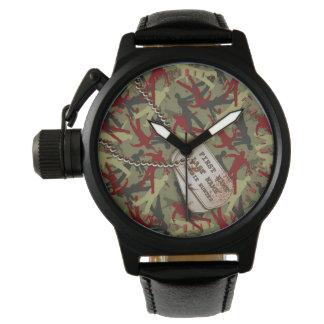 Etiquetas de Camo w/Dog del zombi Reloj De Mano