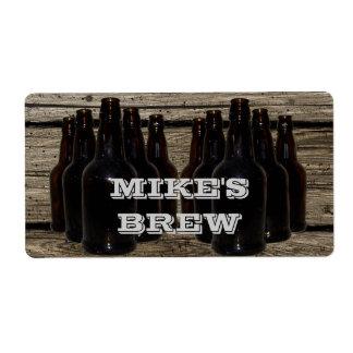 Etiquetas de cervecero personalizadas de la cervez etiqueta de envío