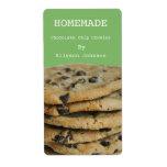 Etiquetas de cocinar hechas en casa de las galleta etiquetas de envío