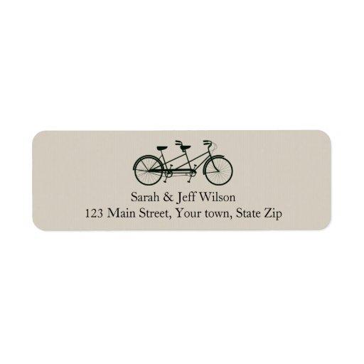 Etiquetas de color topo del remite de la bicicleta etiquetas de remite
