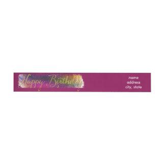 Etiquetas de Colorburst del feliz cumpleaños Etiquetas Postales