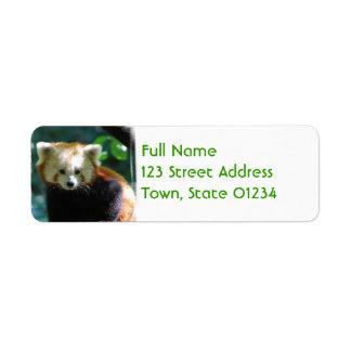 Etiquetas de correo adorables de la panda roja etiquetas de remite