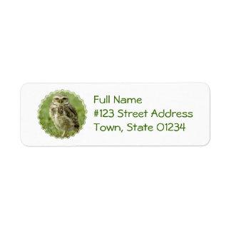 Etiquetas de correo alertas del búho etiqueta de remitente