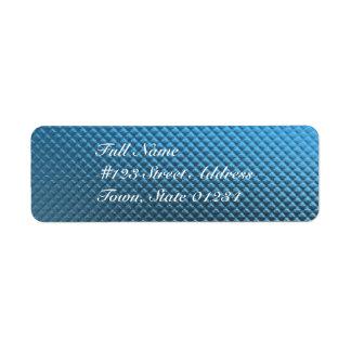 Etiquetas de correo azules de la hoja etiqueta de remite