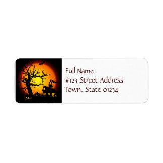 Etiquetas de correo de la casa encantada etiqueta de remitente
