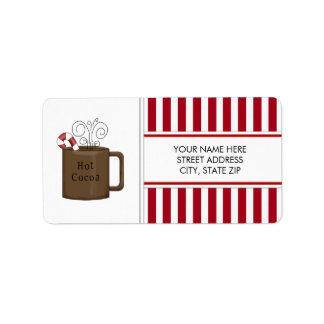 Etiquetas de correo de la dirección del cacao del  etiquetas de dirección