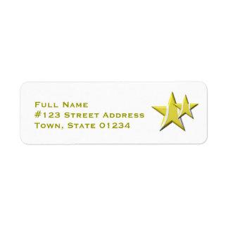Etiquetas de correo de la estrella de tenis etiquetas de remite