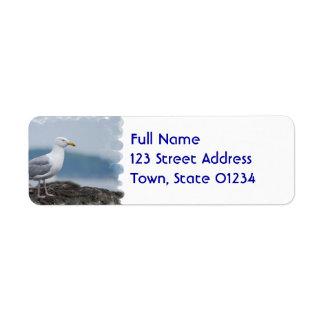 Etiquetas de correo de la gaviota etiquetas de remite