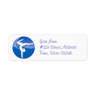 Etiquetas de correo de la gimnasia etiqueta de remite