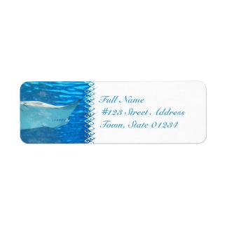 Etiquetas de correo de la natación de la pastinaca etiquetas de remite