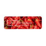 Etiquetas de correo de la pimienta de chile etiqueta de remite