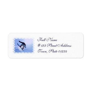 Etiquetas de correo de la snowboard etiquetas de remite
