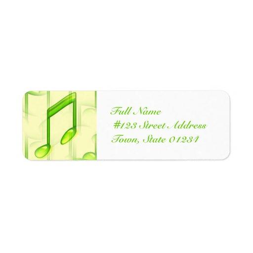 Etiquetas de correo de las notas musicales etiqueta de remitente