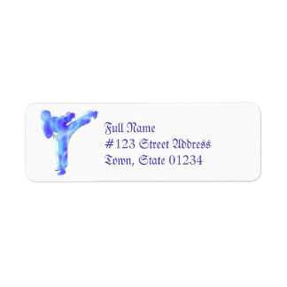 Etiquetas de correo de los artes marciales etiquetas de remite