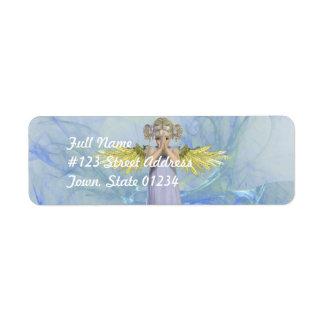 Etiquetas de correo de rogación del ángel etiqueta de remitente