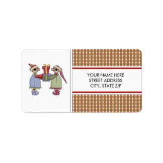 Etiquetas de correo de Sr y de señora Bear Christ Etiqueta De Dirección