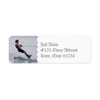Etiquetas de correo del ángulo de Wakeboard Etiquetas De Remite