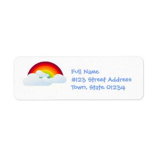 Etiquetas de correo del arco del arco iris etiqueta de remitente