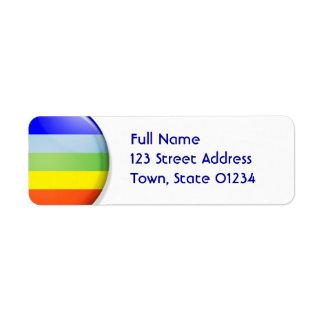 Etiquetas de correo del arco iris etiquetas de remite
