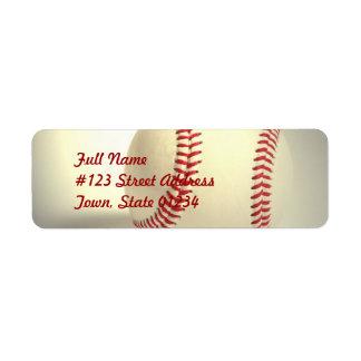 Etiquetas de correo del béisbol etiqueta de remite