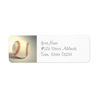 Etiquetas de correo del béisbol etiquetas de remite