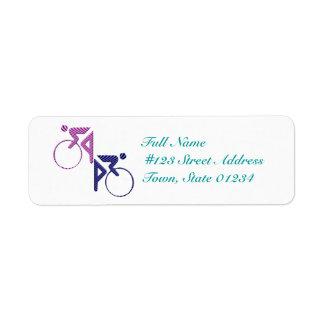 Etiquetas de correo del ciclista etiqueta de remitente