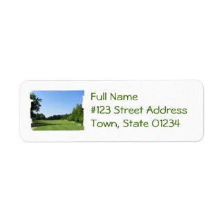 Etiquetas de correo del club de campo etiquetas de remite