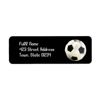 Etiquetas de correo del equipo de fútbol etiqueta de remitente