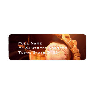 Etiquetas de correo del guante de béisbol etiquetas de remite