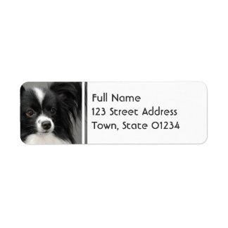Etiquetas de correo del perro de Papillon Etiqueta De Remite