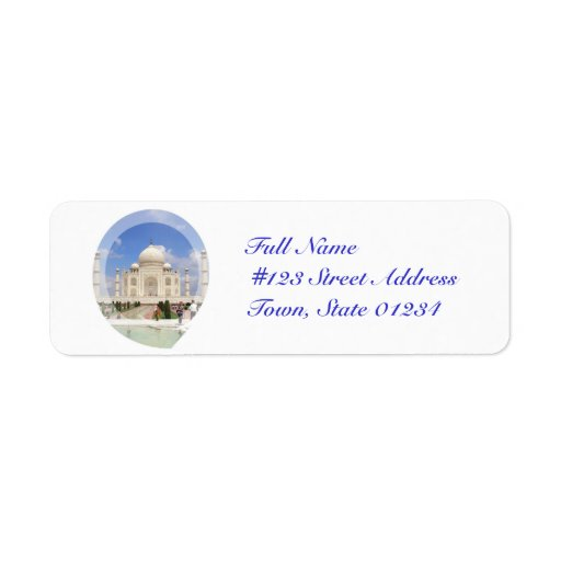 Etiquetas de correo del Taj Mahal Etiqueta De Remite