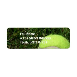 Etiquetas de correo del tenis etiquetas de remite