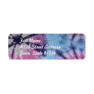 Etiquetas de correo espirales del teñido anudado etiqueta de remite