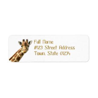 Etiquetas de correo Necked largas de la jirafa Etiqueta De Remite