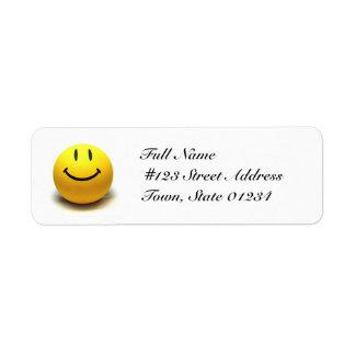 Etiquetas de correo sonrientes de la cara etiqueta de remite