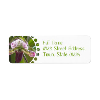 Etiquetas de correo únicas de la orquídea etiqueta de remite