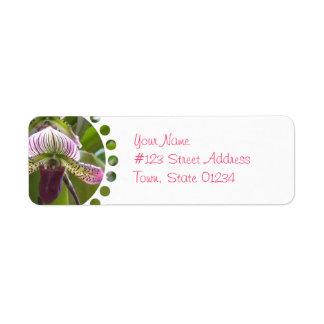 Etiquetas de correo únicas de la orquídea etiquetas de remite