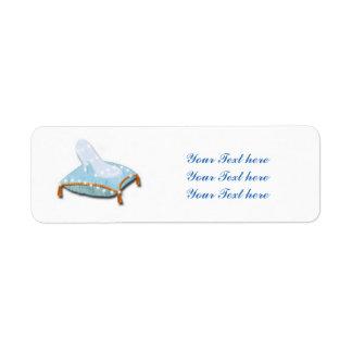 Etiquetas de cristal de la princesa dirección del etiqueta de remite