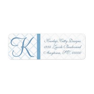 Etiquetas de devolución azules del personalizado etiqueta de remite